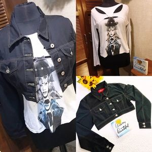 Chic Guess t shirt and Vekem crop jacket combo